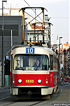 DPP, CKD Tatra T3 ev.c. 6886, linka cislo 10, Praha, Plzenska, 13.2.2006