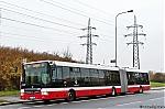 DP Praha, SOR NB18 ev.c. 6950, linka cislo 177, 9.11.2017