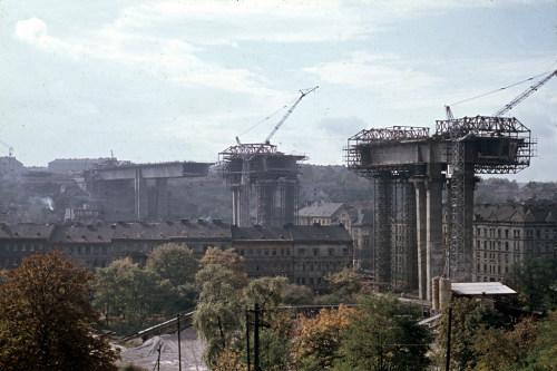 Nuselský most - 1968, foto: Archiv DP Praha